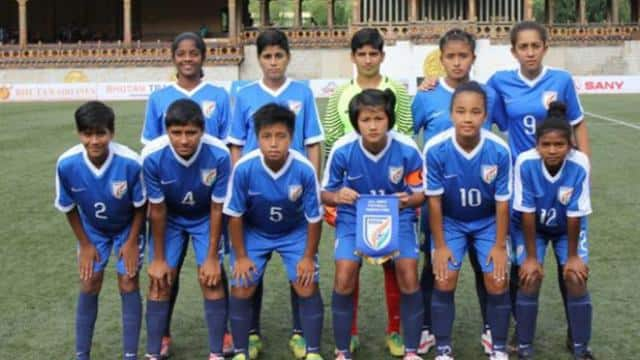 Indian under 15 girls football team