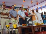 MP and officers at program of Foundation stone for new rail line between supaul and araria