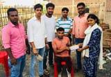 दिव्यांग क्रिकेटर ने ग्रहण की विद्यार्थी परिषद की सदस्यता