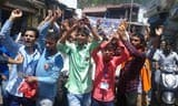 पुरोला कॉलेज में छात्रों का प्रदर्शन