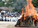 Atal Bihari Vajpayee is cremated at Delhi's Smriti Sthal