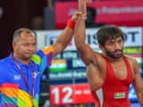 Bajrang Punia wins Asian Games 2018 first day (photo - AP)