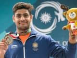 Lakshay Sheoran silver medal (photo - PTI)