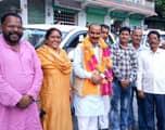 केंद्रीय कपड़ा राज्य मंत्री अजय टम्टा  का गणाई गंगोली पहुंचने पर हुआ स्वागत