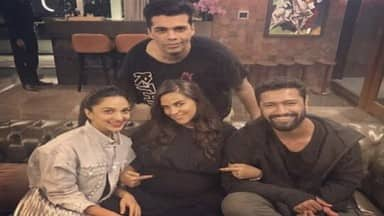 karan johar hosted a birthday party for neha dhupia at his home