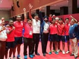 India Men's #TableTennis team wins their first ever #AsianGames medal!