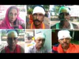 12 vaishali resident kanwariya brutally injured after collision of jeep with truck in banka