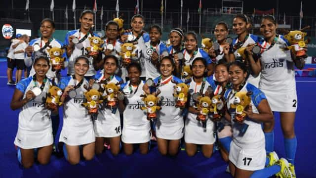 Indian women hockey team gets silver (photo - AFP)