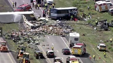 america: Bus accident in new mexico