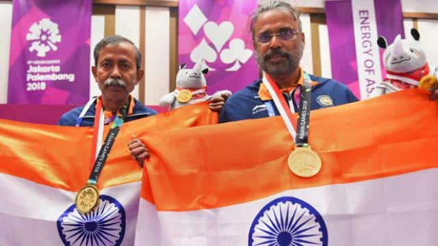 Pranab and Shibhnath won gold medal in bride (photo - PTI)