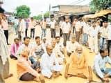 लेड़ियारी मंडी का रास्ता अवरुद्ध, विरोध में चक्काजाम