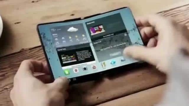 Image result for सैमसंग दुनिया का पहला फोल्डेबल स्मार्टफोन करेगा लांच