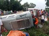 हरेली में कांवरिया वाहन पलटा