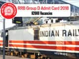 rrb group exam date 2018 admit card