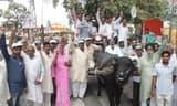 पेट्रोल और डीजल के दामों में बढ़ोत्तरी पर रालोद ने किया प्रदर्शन