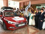 Sushma Swaraj Flagged off mothers on wheels