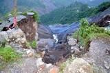 भू-स्खलन के बाद तल्ला कृष्णापुर के लिए पैदल मार्ग का संकट