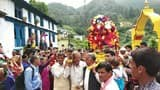 प्रसिद्ध ध्वज मंदिर के लिए मां जयंती का सतगढ़ के उठा डोला