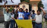 बेरीनाग के लोगों ने जिला मुख्यालय में सड़क निर्माण के लिए  किया प्रदर्शन