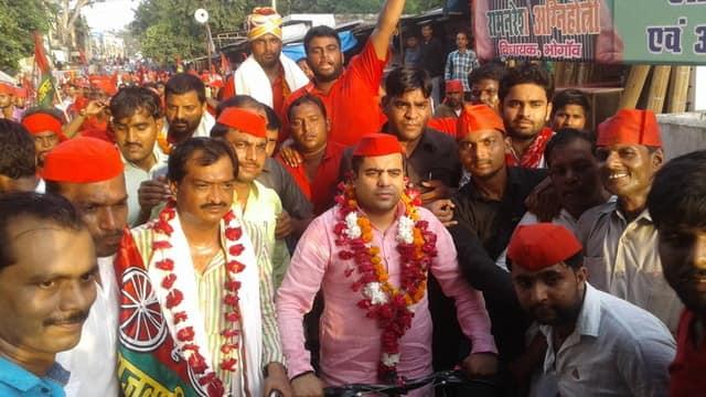 नवीगंज में हुआ स्वागत, आज मैनपुरी से जाएगी सैफई साइकिल रैली