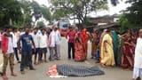 करंट से माले कार्यकर्ता की मौत, हंगामा