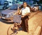 भ्रष्टाचार के विरोध में साइकिल यात्रा पर निकले राघवेन्द्र