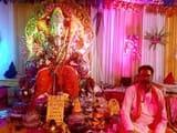 गणेश चतुर्थी पर शोभायात्रा निकालकर की गई भगवान गणेश की स्थापना