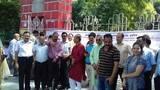 जातिगत आरक्षण के विरोध में गांधी पार्क में प्रदर्शन