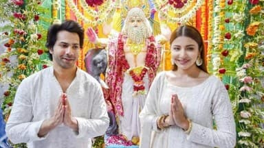Varun Dhawan and Anushka Sharma during the promotion of their upcoming film Sui Dhaaga