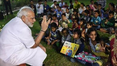 PM Modi celebrate his birthday with kids see pictures