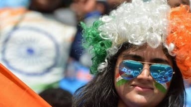fans cheers there teams in india-pakistan match see pictures