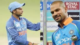 Kuldeep Yadav and Shikhar Dhawan