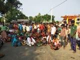 लापता व्यक्ति की बरामदगी के लिए शाहपुर के लोगों ने किया सड़क जाम