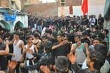 अब्दुल्लापुर में या हुसैन या हुसैन की सदाओं के बीच कड़ी सुरक्षा मे निकला जुलूस
