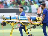 Indian cricketer Hardik Pandya is transported with a injury during the one day international