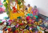 आस्था पूर्वक भगवान अनंत की हुई पूजा-अर्चना