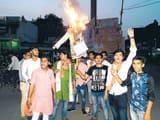 एबीवीपी ने फूंका पश्चिम बंगाल सरकार का पुतला