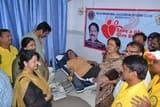 व्यापारियों व समाजसेवियों ने किया 61 यूनिट रक्तदान