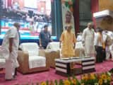 Yogi adityanath during the launch of Ayushman Yojana