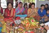अनंत चतुर्दशी पर भगवान हरि की हुई पूजा, बांधा रक्षा सूत्र