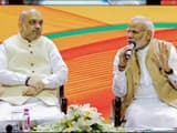 Prime Minister Narendra Modi and BJP president Amit Shah during BJP National Executive meeting, in N