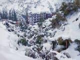 Snowfall in Keylong