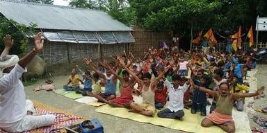 पांच दिवसीय योग शिविर का समापन