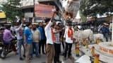 एबीवीपी कार्यकर्ताओं ने फूंका ममता बनर्जी का पुतला