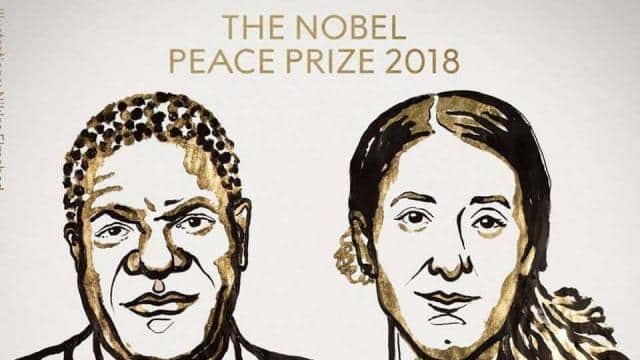 Denis Mukwege and Nadia Murad for their efforts to end the use of sexual violence as a weapon of war