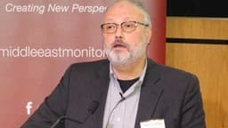 Saudi dissident Jamal Khashoggi speaks at an event hosted by Middle East Monitor in London Britain,