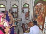 नवरात्रों पर अमरोहा में घरों व मंदिरों में हुई कलश स्थापना