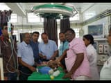 marine oyster trapped on throat of newborn baby then successful operation by doctors of bhagalpur me