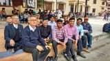 सातवें वेतनमान को एसएसजे में शिक्षकों ने धरना दिया