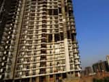 Under construction building Amrapali Platinum at Sector 119, Noida Extension.(Mint File)